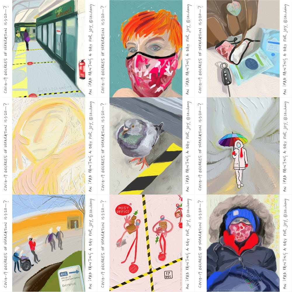 C19 iPad paintings by SAL